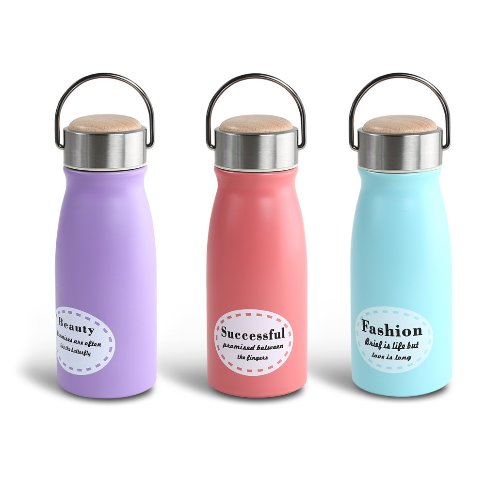 300ML Wood Cap Stainless Steel Vacuum Insulation Bottle