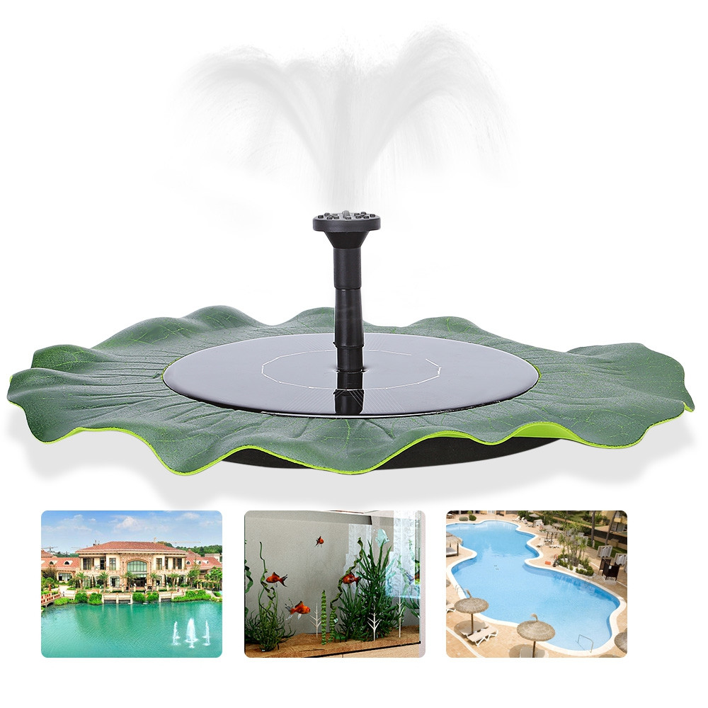 Pond Garden Pool Irrigation Water Pump Floating Solar Fountain
