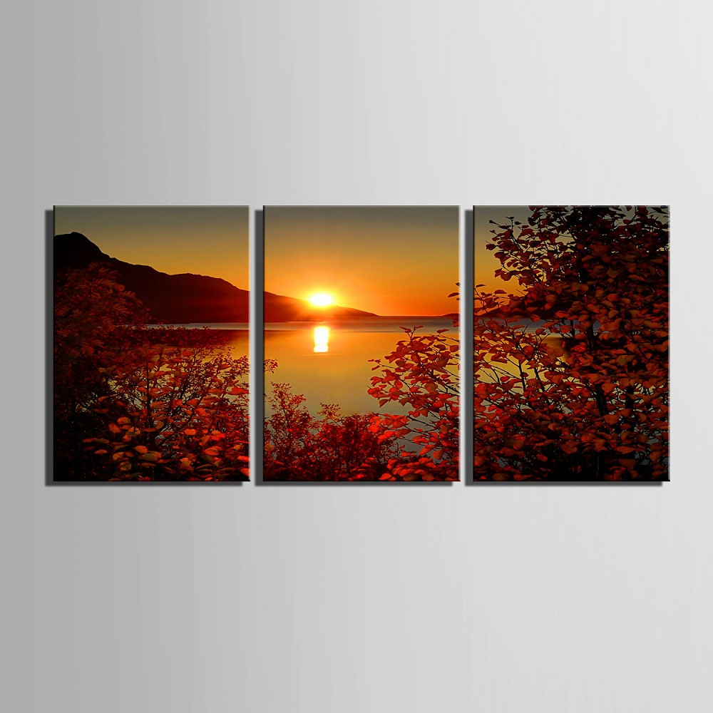 Yc Special Design Frameless Paintings The Setting Sun of 2