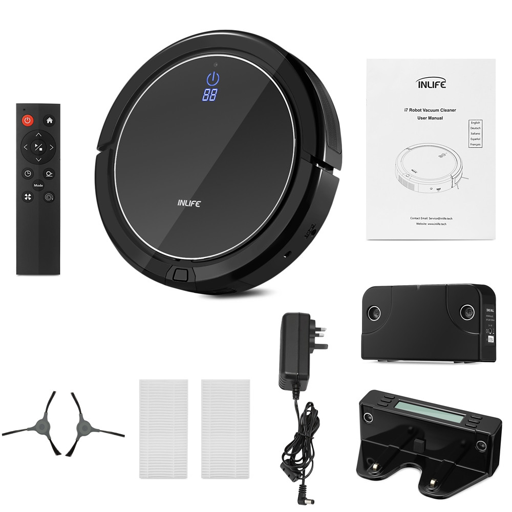 Inlife I7 Intelligent Robotic Vacuum Cleaner with Strong Suction