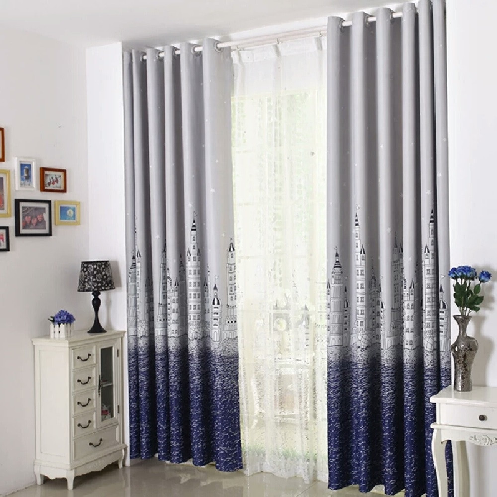 Castle Curtain Suitable for Children Room Matching Window Screening