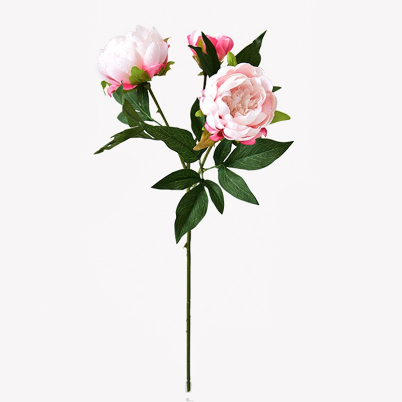 3 Heads European Style Peony Home Decoration Artificial Flower 50CM