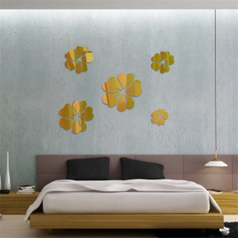 3D Acrylic DIY Mirror Wall Stickers for Home Wall Decoration