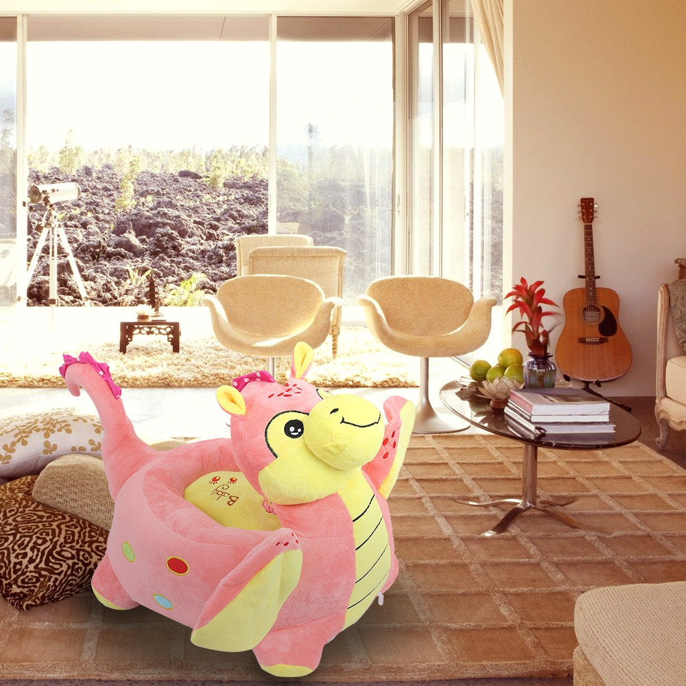 Cartoon Children Sofa Chair Plush Dinosaur Toy Stool