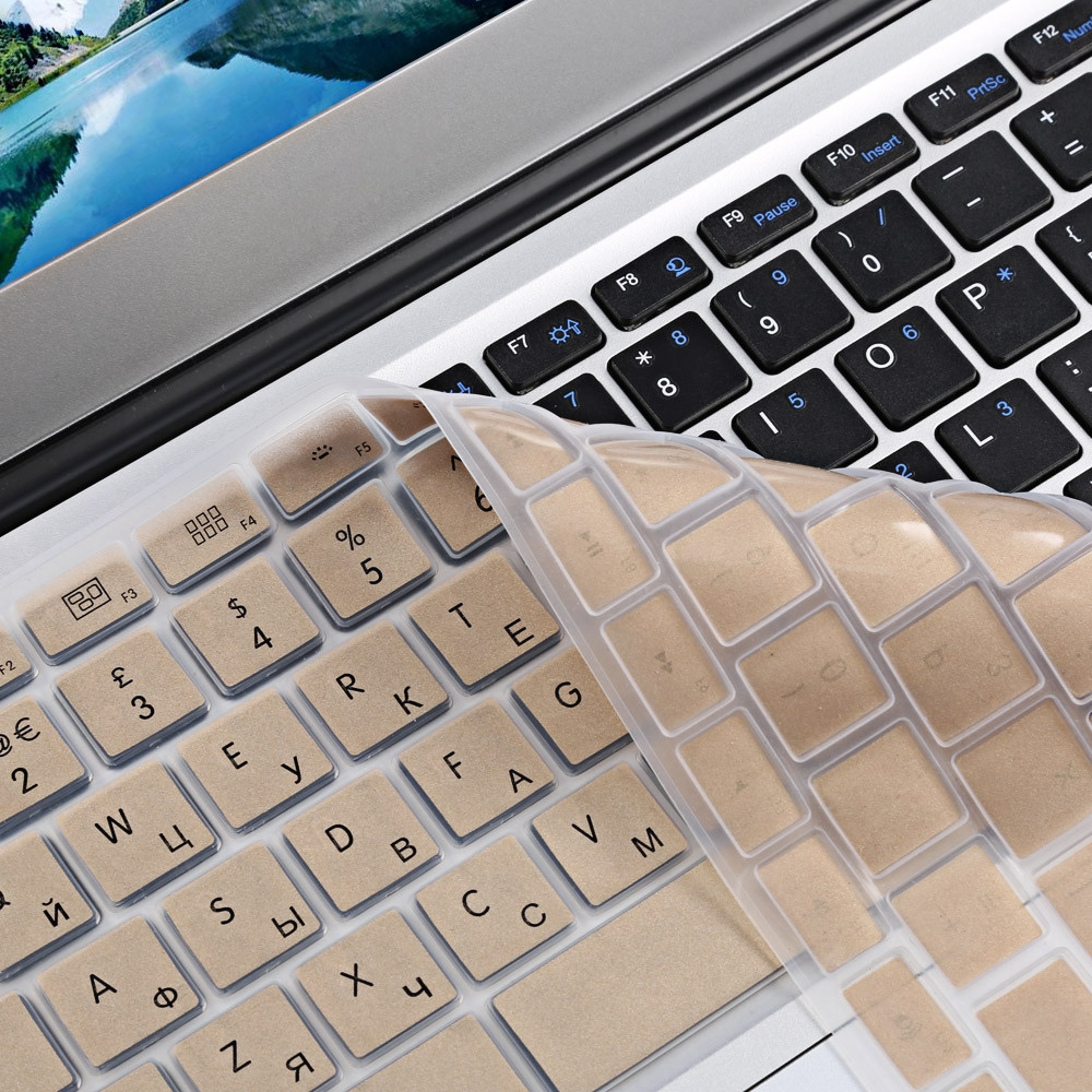 Ultra Thin Water Resistant TPU Russian Laptop Keyboard Protective Film for MacBook Air Pro 13 / 15 inch