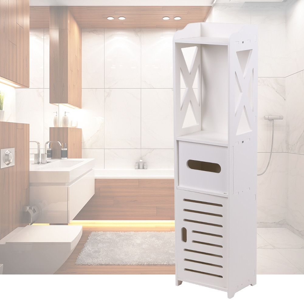Bathroom Storage Organizer Standing Floor Cabinet
