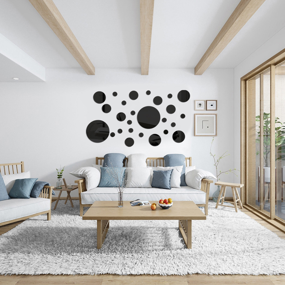 3D Circle Mirror Wall Stickers Acrylic Art Decor