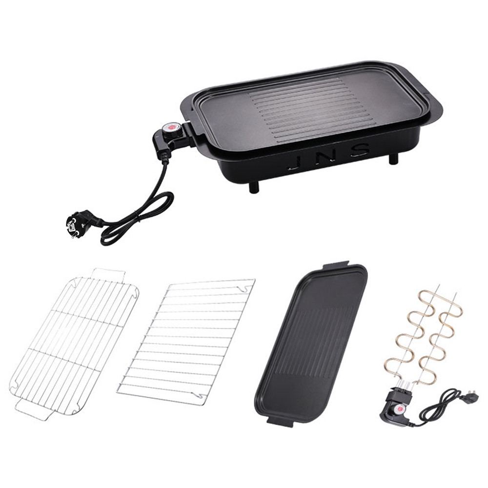 Electric BBQ Grill Barbecue Oven Roasting Pan