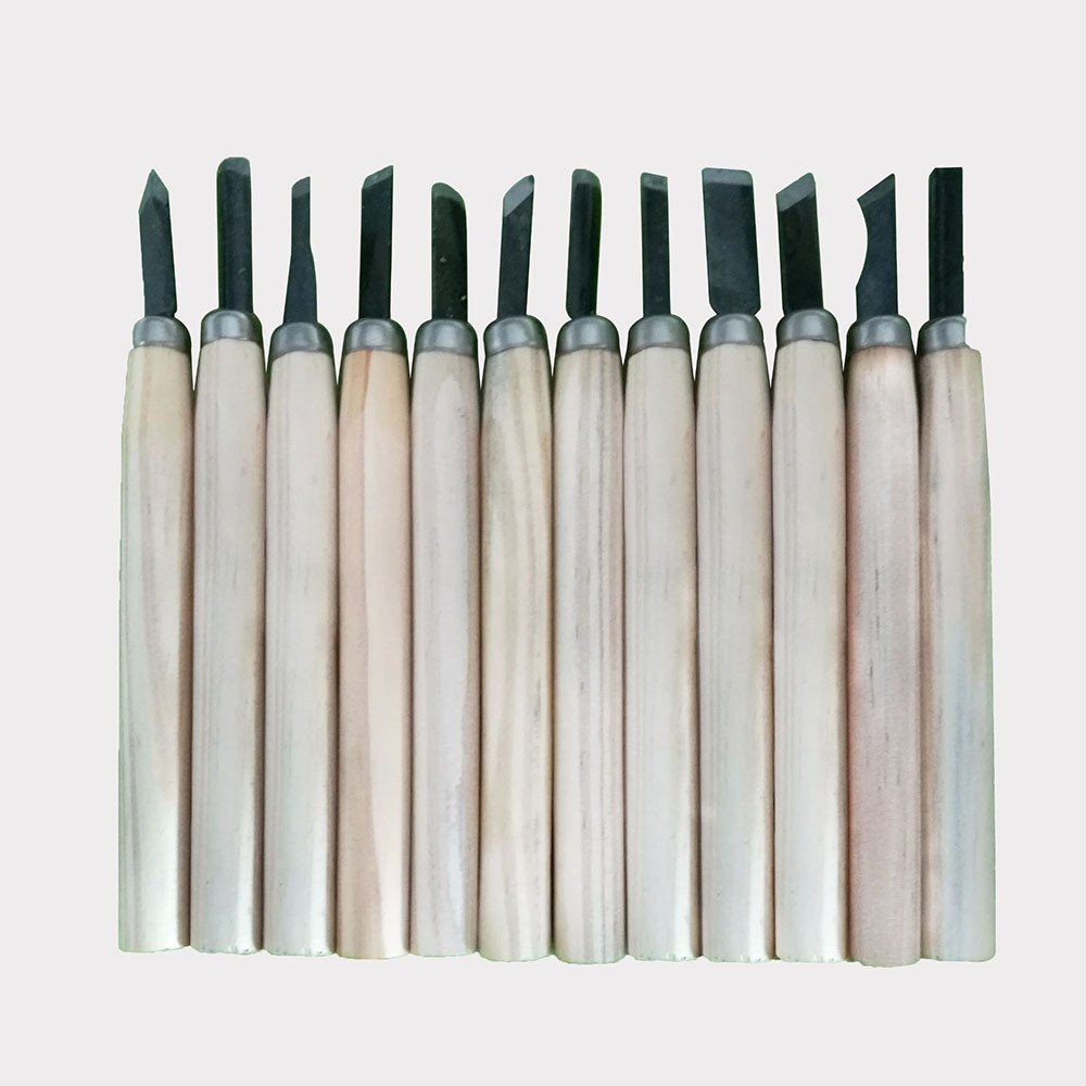 Wood Handle Carving Knife Set