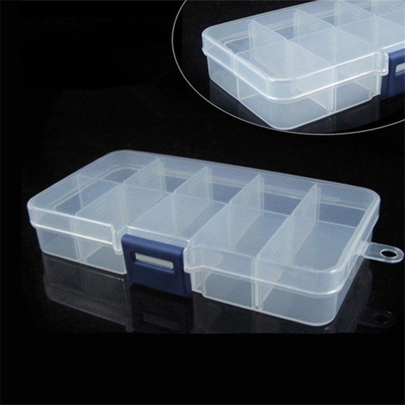Detachable Transparent Multi-Function Box with 10 Grids