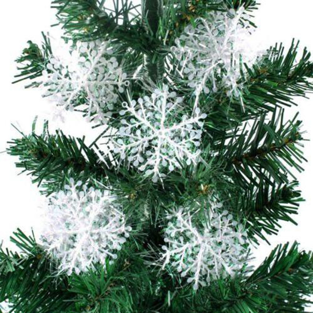 15Pcs Christmas Snowflakes Tree Ornaments Home Party Holiday Festival Decor