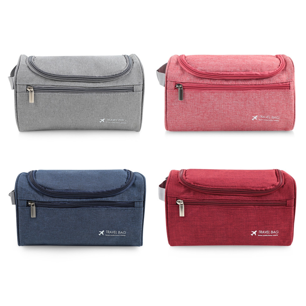 4007 - MS Portable Foldable Water Resistant Wash Storage Bag with Hook