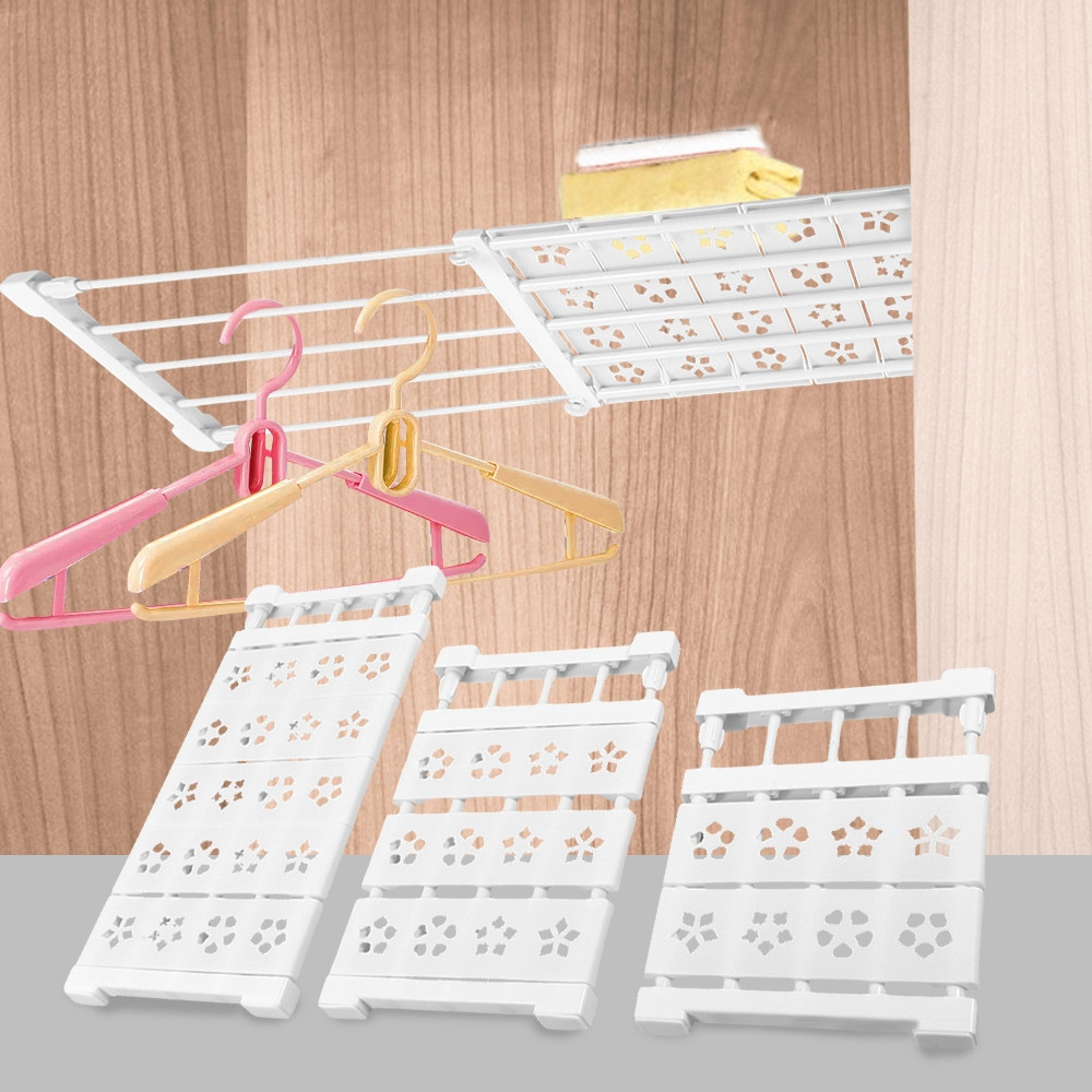 Scalable Layered Separator Retractable Wardrobe Partition Rack