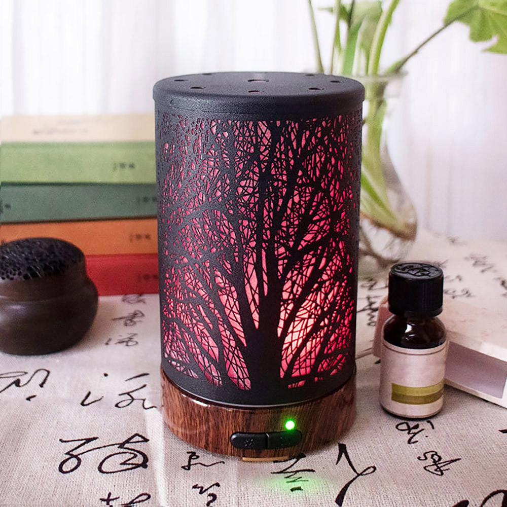 Aromatherapy Diffuser Metal Aroma Essential Oil Humidifier Mist Maker