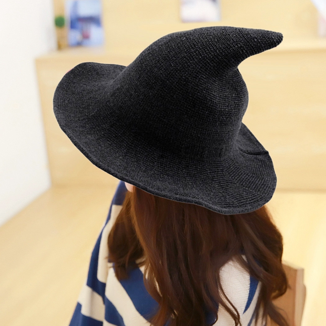 Modern Witch Hat Made From Fashionable Sheep Wool Halloween Witch Hat NEW