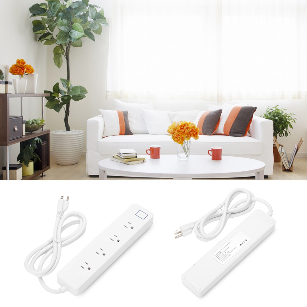 4 Outlets WiFi Smart Power Strip Socket Works with Alexa