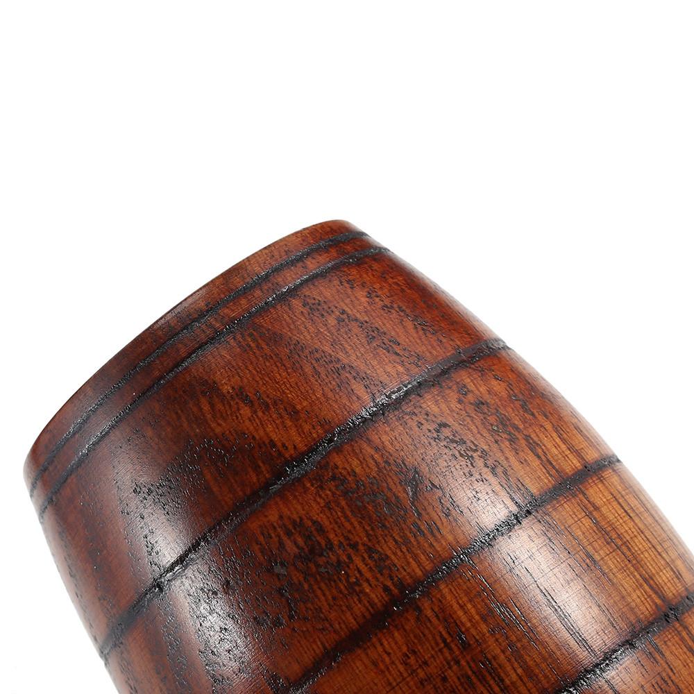 Creative Barrel Shaped Wooden Coffee Tea Beer Cup