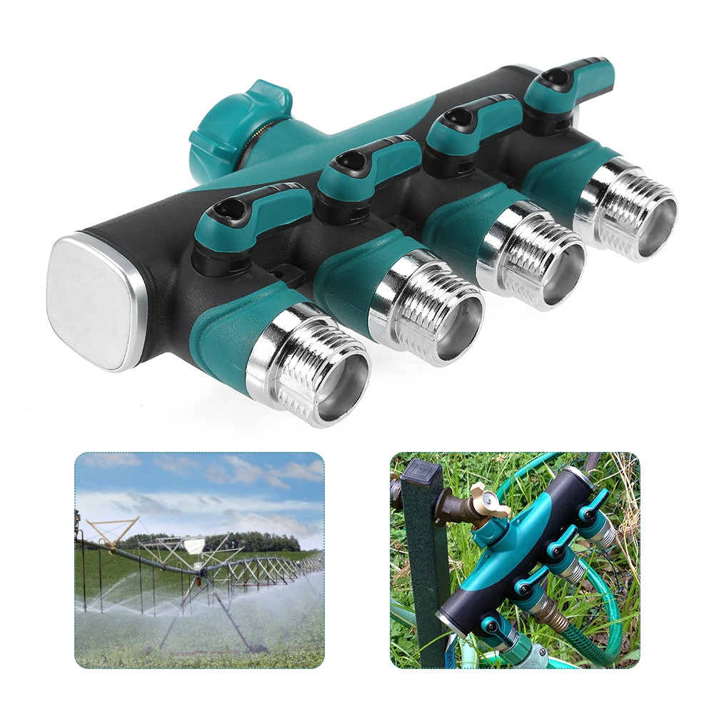 4 Way Hose Connector Garden Faucet Valve Splitter