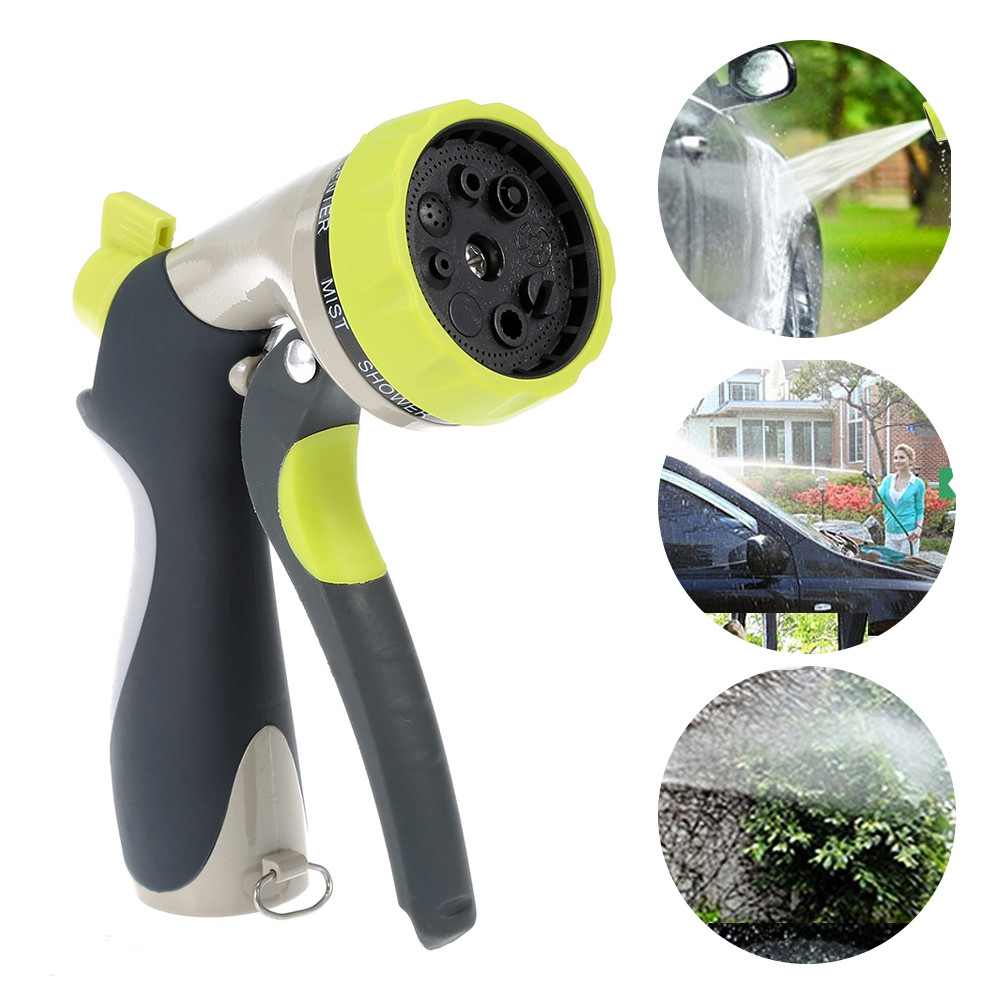 8 Function Zinc Alloy Hose Nozzle Sprayer