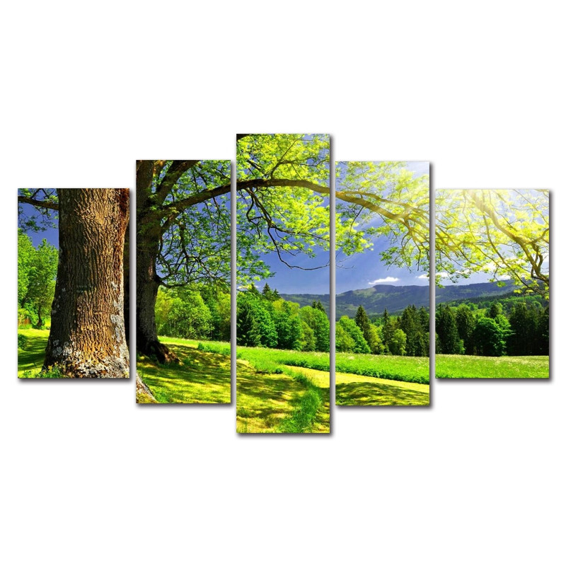 DYC 10085 5PCS Landscape Canvas  Print Art