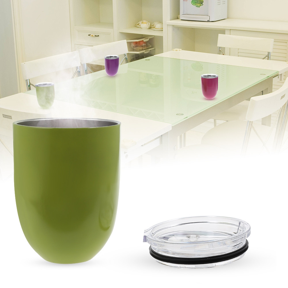 Egg Shape Double-layer Stainless Steel Warm-keeping Cup