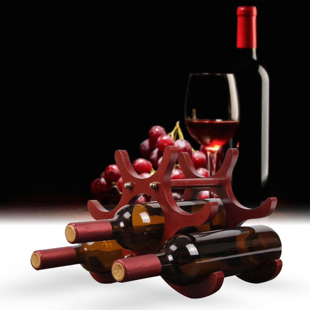 Fashion Creative Home Decor Wood Style Wine Rack