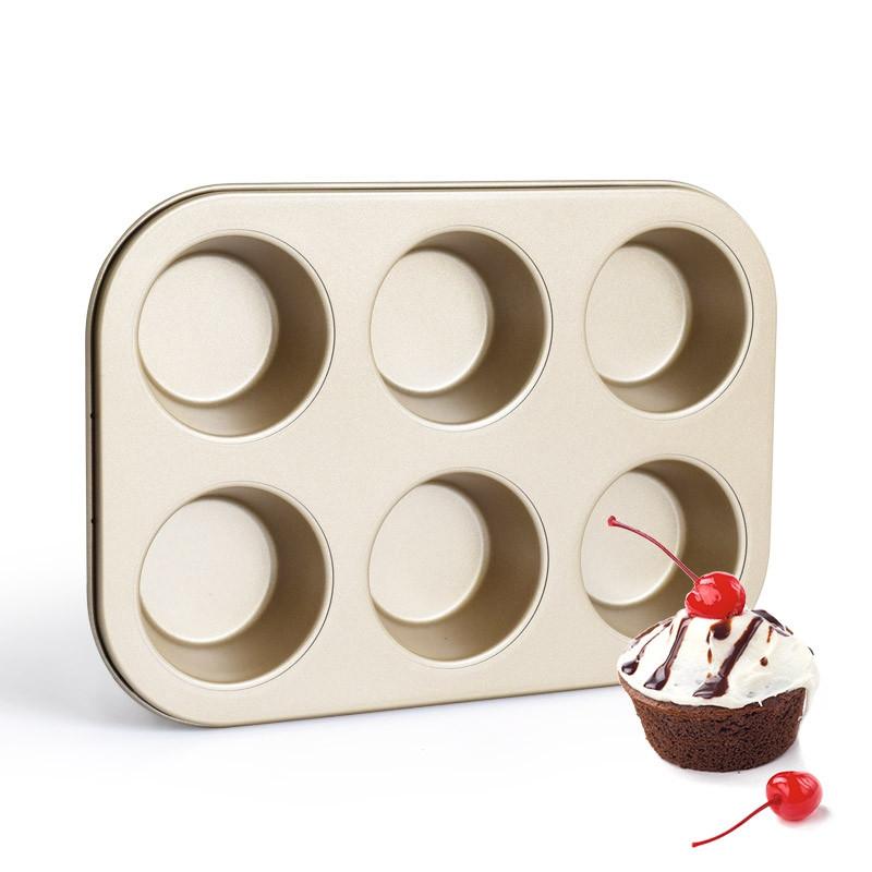 DIHE Cake Carbon Steel Baking Tool 6 Muffin Cake