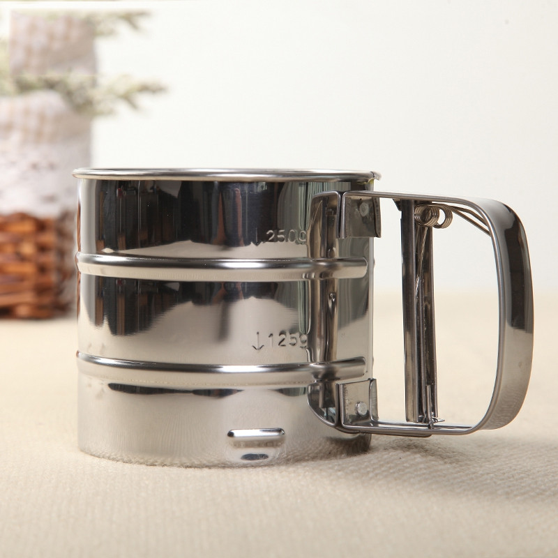 DIHE Hand Flour Sifter Stainless Steel Fine Filter