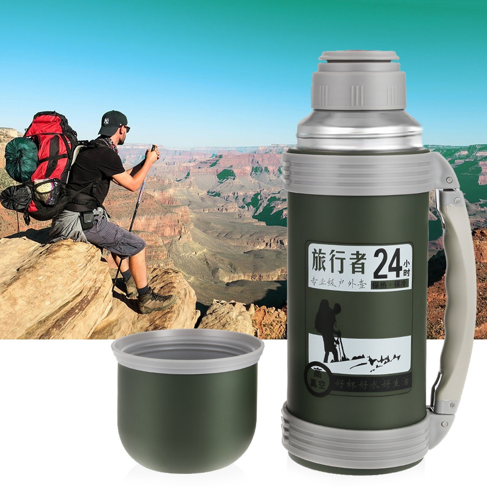1.2L Portable Stainless Steel Vacuum Cup Travel Mug