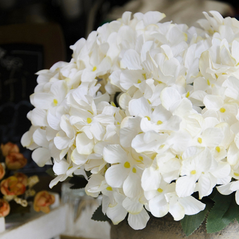 XM1 1 Bouquet 6 Heads European Style Hydrangea Home Decoration Artificial Flowers