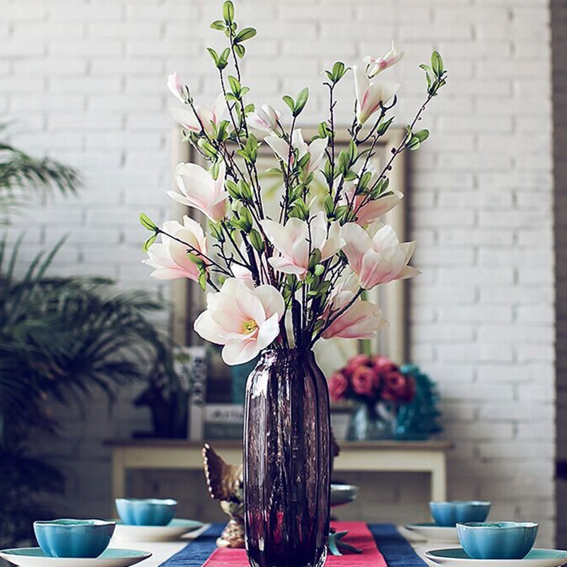 1 Branch European Style Magnolia Flower Home Decoration Artificial Flower