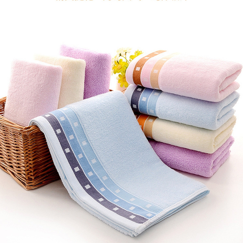 1 Pc Towel Simple Solid Color Thick Home Use Towel Gift Towel