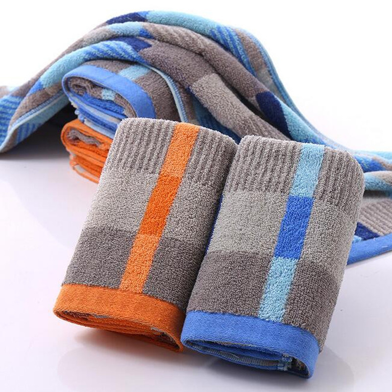 1 Pc Face Towel Cotton Blends Patchwork Pattern Cozy Towel