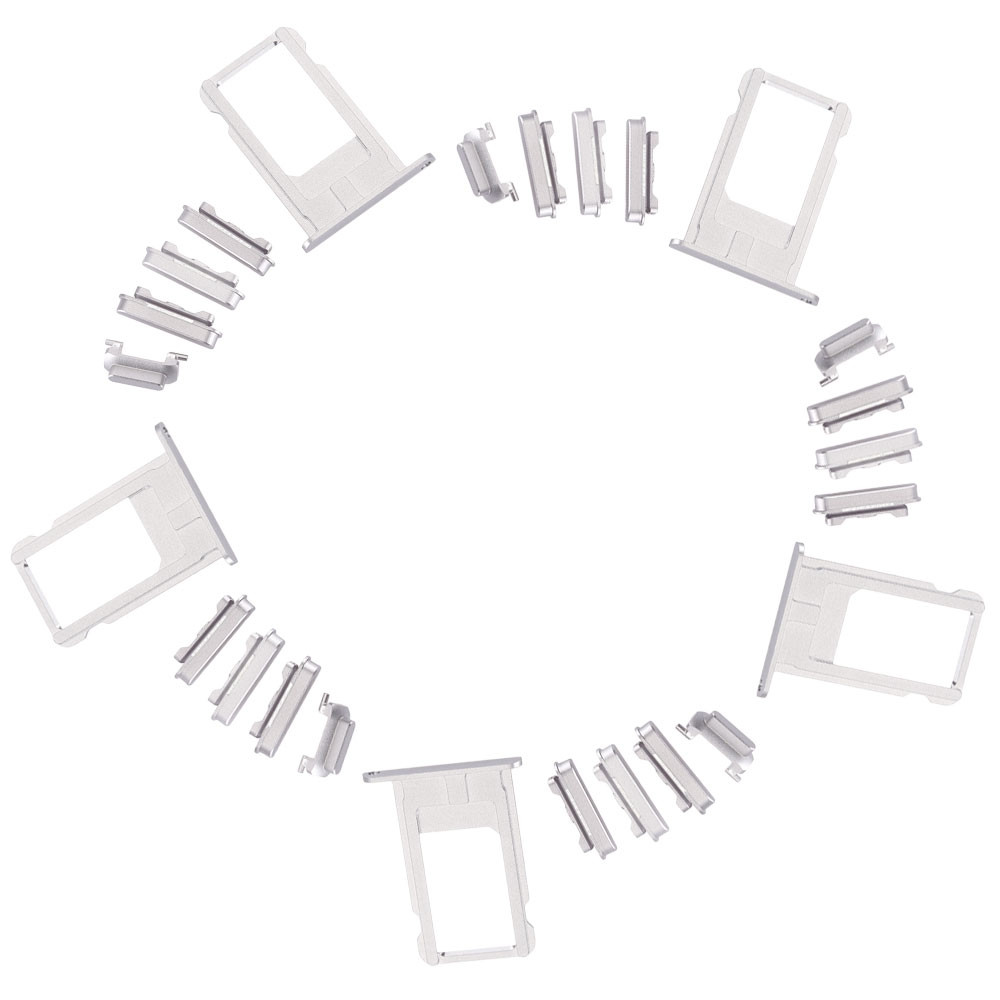 5Pcs SIM Card Tray Slot with Side Button Switch Replacements for iPhone 6 Plus