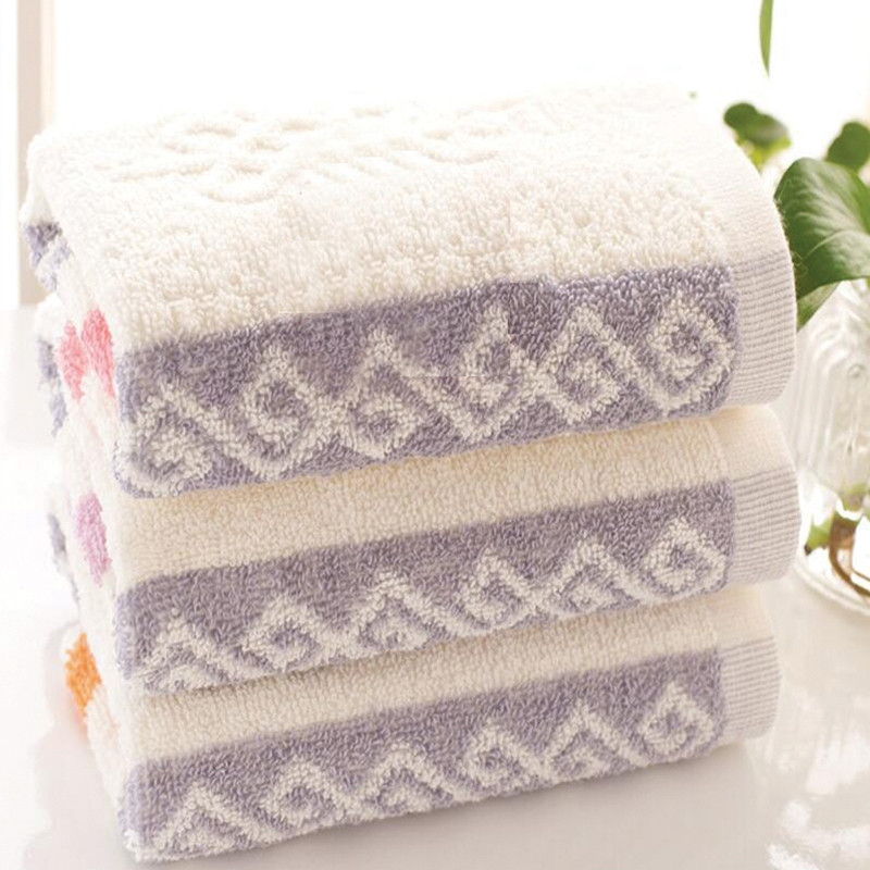 1Pc Face Towel Classic Modern Colored Sides Supper Comfy Towel